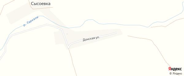 Донская улица на карте деревни Сысоевки с номерами домов