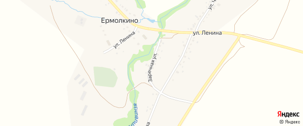 Заречная улица на карте села Ермолкино с номерами домов