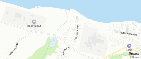 Ольховый переулок на карте Воткинска с номерами домов