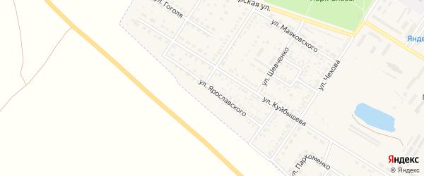Улица Ярославского на карте поселка Приютово с номерами домов