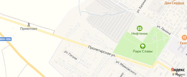 Родниковая улица на карте поселка Приютово с номерами домов