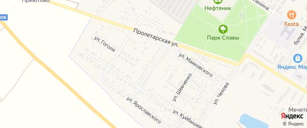 Улица Чернышевского на карте поселка Приютово с номерами домов