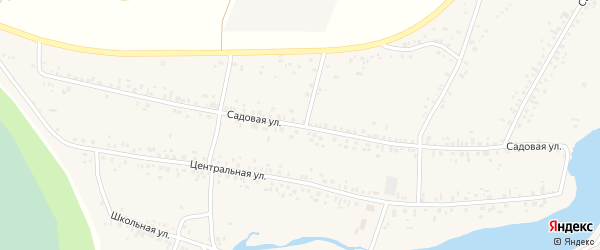 Садовая улица на карте села Новокабаново с номерами домов