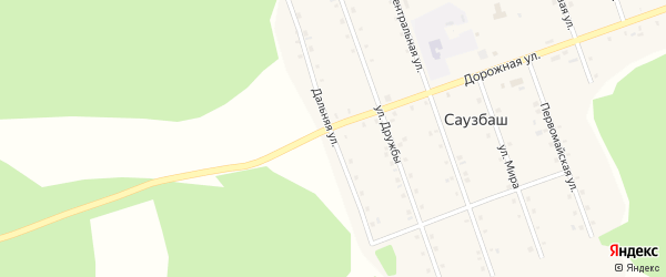 Дальняя улица на карте деревни Саузбаша с номерами домов