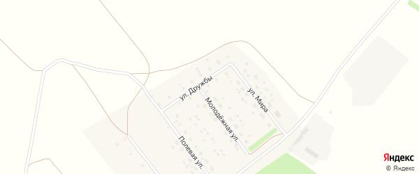 Улица Дружбы на карте деревни Дмитриевой Поляны с номерами домов