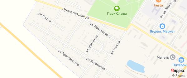 Улица Шевченко на карте поселка Приютово с номерами домов