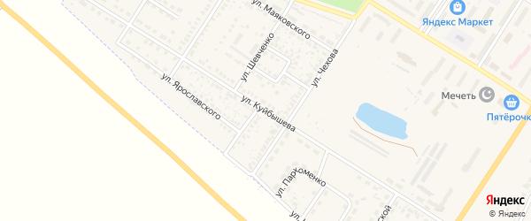 Улица Куйбышева на карте поселка Приютово с номерами домов