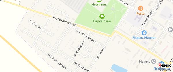 Улица Маяковского на карте поселка Приютово с номерами домов