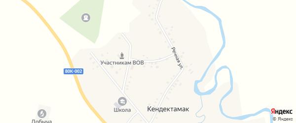 Клубный переулок на карте села Кендектамака с номерами домов