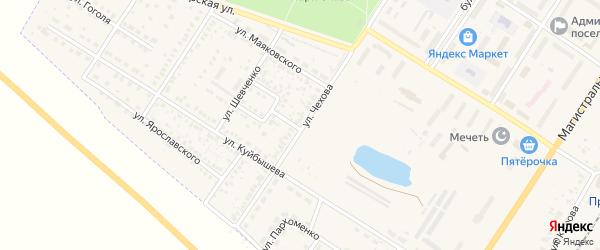 Улица Чехова на карте поселка Приютово с номерами домов