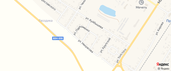 Улица Пархоменко на карте поселка Приютово с номерами домов