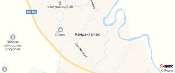 Речная улица на карте села Кендектамака с номерами домов