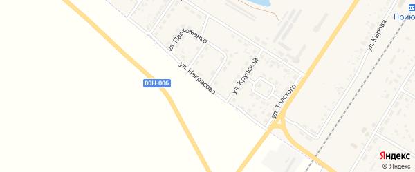 Улица Некрасова на карте поселка Приютово с номерами домов