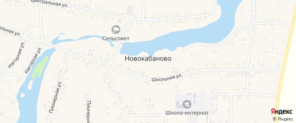 Нагорная улица на карте села Новокабаново с номерами домов