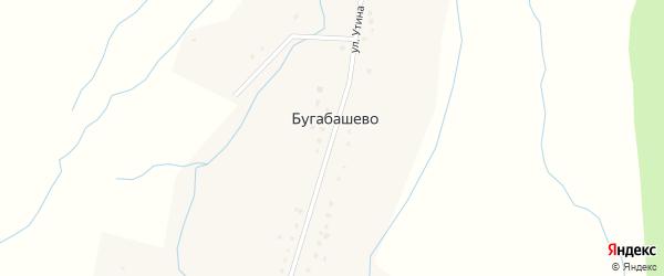 Улица Утина на карте села Бугабашево с номерами домов