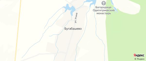 Карта села Бугабашево в Башкортостане с улицами и номерами домов
