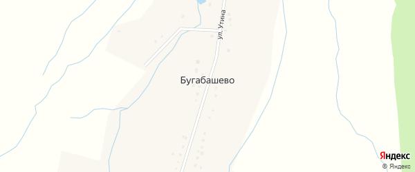 Лесная улица на карте села Бугабашево с номерами домов