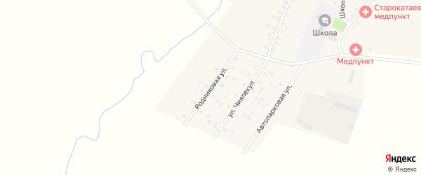 Родниковая улица на карте села Старокатаево с номерами домов