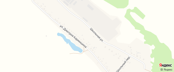 Парковая улица на карте деревни Дмитриевой Поляны с номерами домов