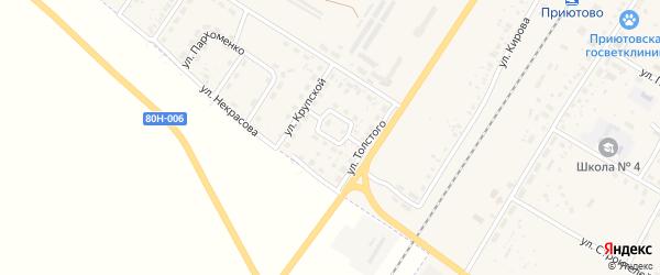 Улица Аксакова на карте поселка Приютово с номерами домов