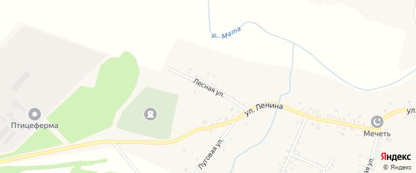 Лесная улица на карте села Старокатаево с номерами домов