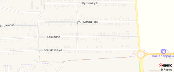 Южная улица на карте села Новокабаново с номерами домов