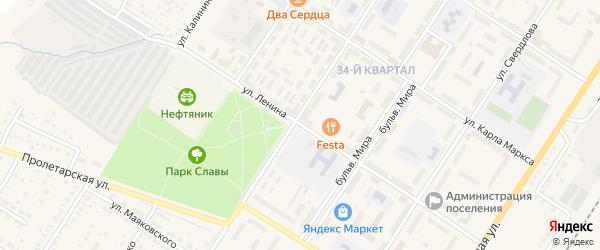 Улица Ленина на карте поселка Приютово с номерами домов
