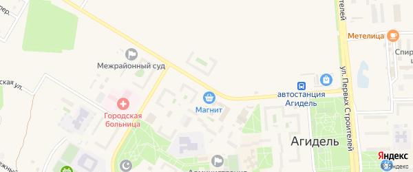 Улица Академика Курчатова на карте Агидели с номерами домов