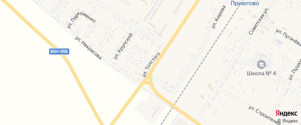 Улица Толстого на карте поселка Приютово с номерами домов