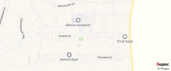 Новая улица на карте села Новокабаново с номерами домов