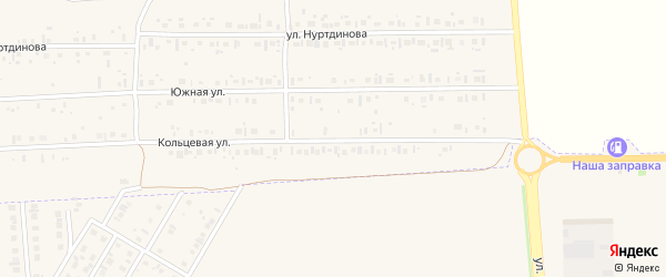 Кольцевая улица на карте села Новокабаново с номерами домов