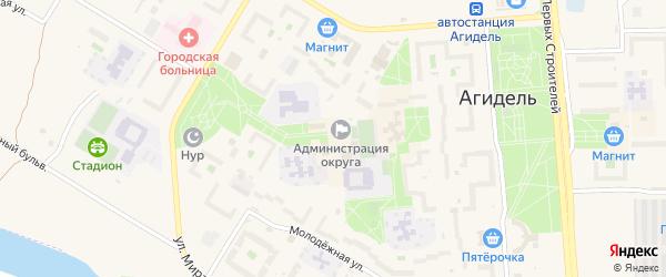 Цветочный бульвар на карте Агидели с номерами домов