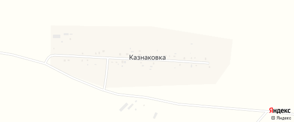 Улица Горького на карте деревни Казнаковки с номерами домов