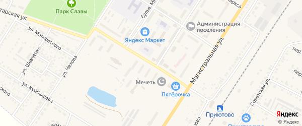 Вокзальная улица на карте поселка Приютово с номерами домов