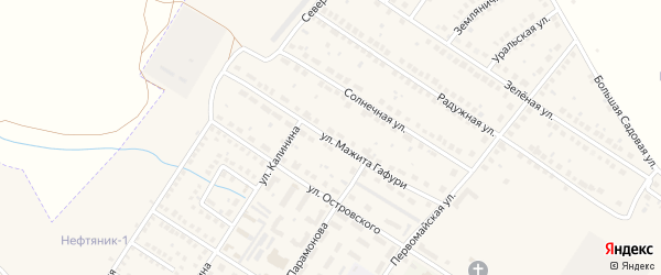 Улица Мажита Гафури на карте поселка Приютово с номерами домов