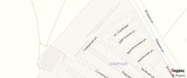 Северная улица на карте поселка Приютово с номерами домов