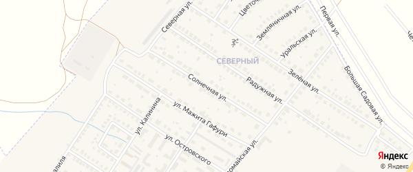 Солнечная улица на карте поселка Приютово с номерами домов