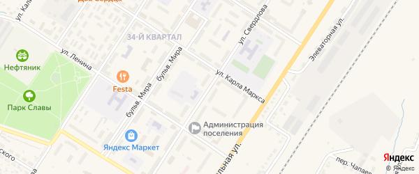 Улица Свердлова на карте поселка Приютово с номерами домов
