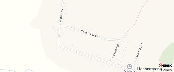 Советская улица на карте села Новокатаево с номерами домов