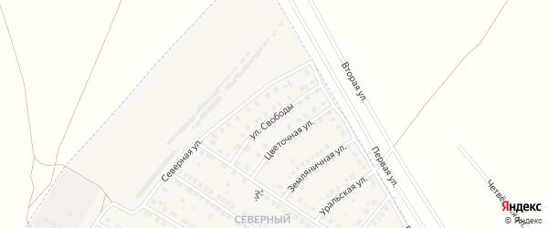 Улица Свободы на карте поселка Приютово с номерами домов