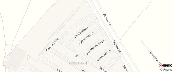 Цветочная улица на карте поселка Приютово с номерами домов
