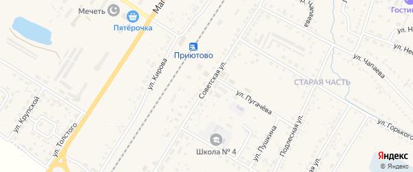 Советская улица на карте поселка Приютово с номерами домов