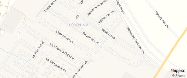Радужная улица на карте поселка Приютово с номерами домов