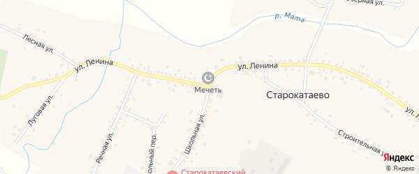 Улица Ленина на карте села Старокатаево с номерами домов