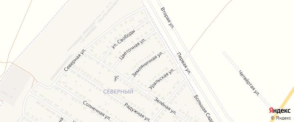 Земляничная улица на карте поселка Приютово с номерами домов