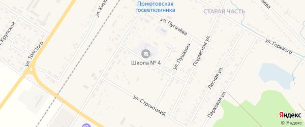 Школьная улица на карте поселка Приютово с номерами домов