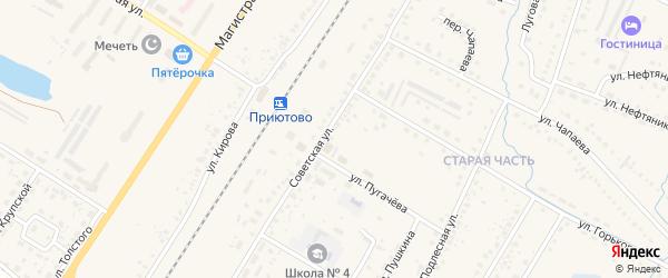СНТ Сельхозника на карте поселка Приютово с номерами домов