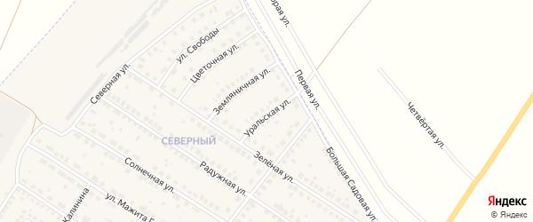 Уральская улица на карте поселка Приютово с номерами домов