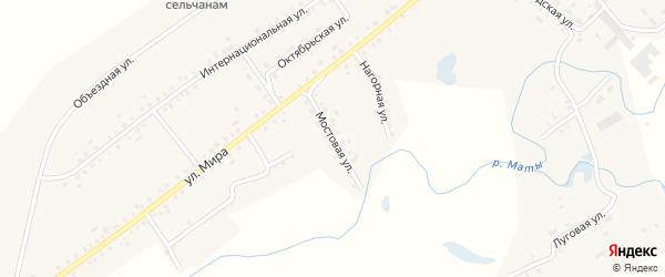 Мостовая улица на карте села Старые Маты с номерами домов