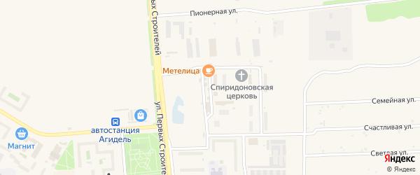 Спортивная улица на карте Агидели с номерами домов